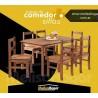 Juego de comedor madera mesa + 6 sillas